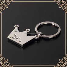 beautiful wedding souvenir keychain handmade keyring crowne shape keyring