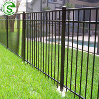Galvanized Steel tubular Picket Fence Made In Guangzhou