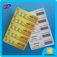 Customized 5 in 1 black layer lottery scratch card/promotional scratch cards
