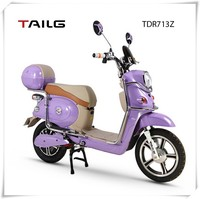 400w pedals steel frame women electric motorbike