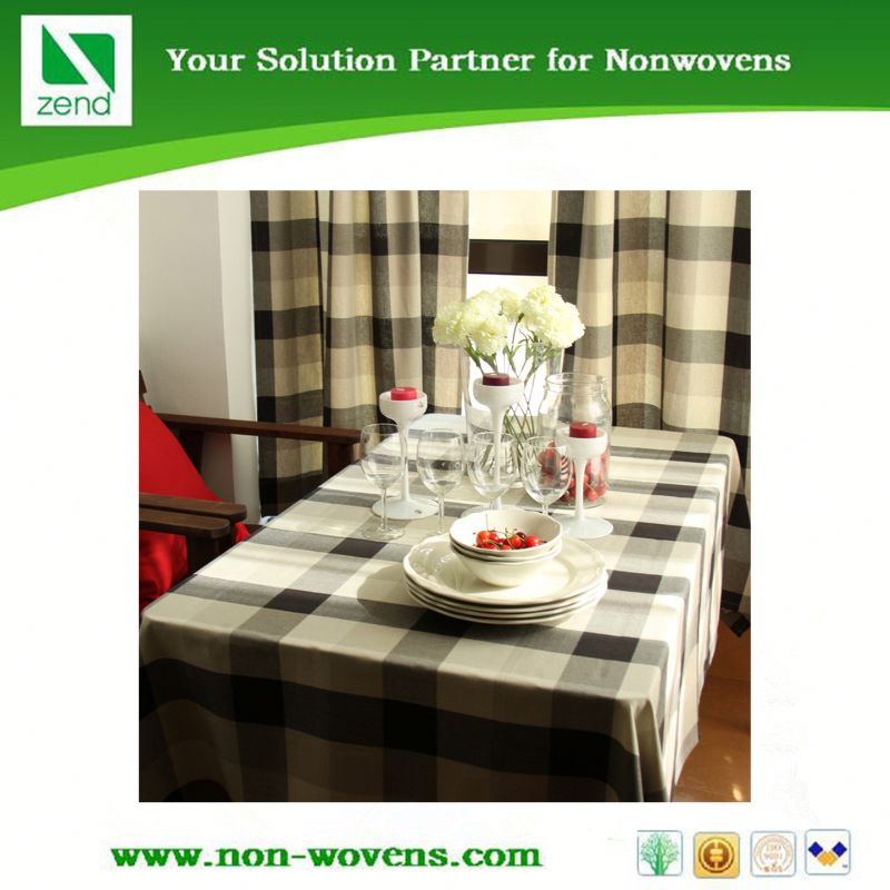 Disposable washable vinyl table cloth in China supplier