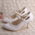 White Lace Mary Jane Shoes Women