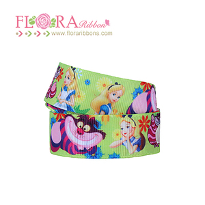 Fashionable Thermal Transfer Print Princess Character Ribbon for Decoration
