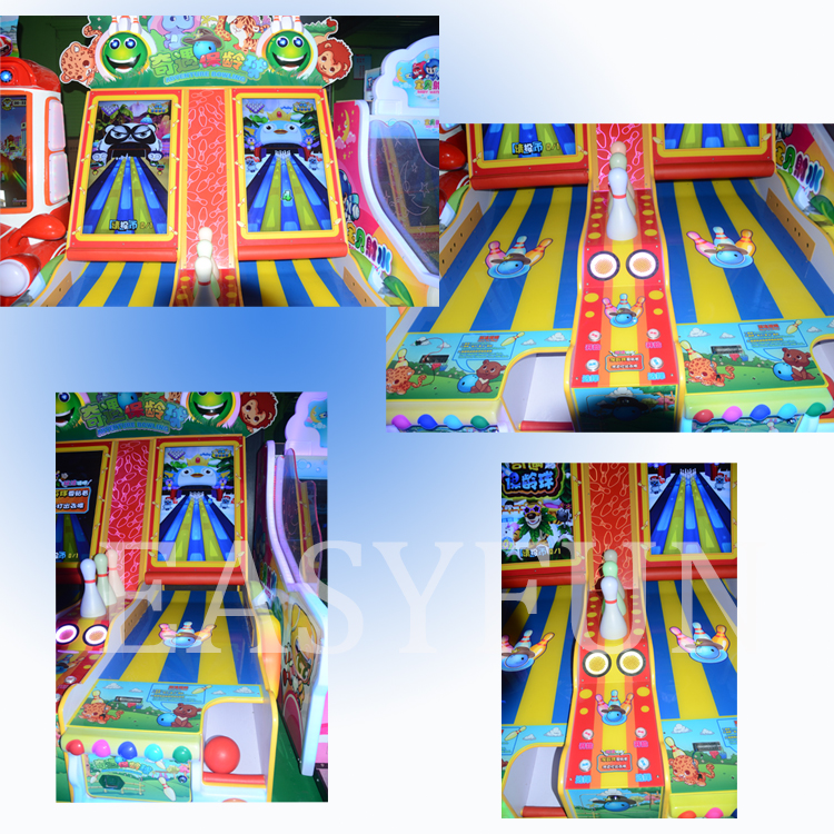 Hot Sale 2 Players Arcade Bowling Game Machine From Easyfun