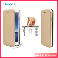 [Soar]Strong Magnetic Book Case For Huawei Honor 8 Shockproof Leather Wallet Case For Huawei Honor 8