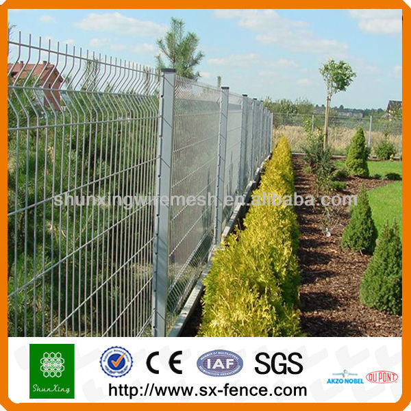 3D V-folds PVC Coated Decorative Wire Mesh Garden Fence