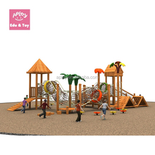 Kids wooden climbing frames outdoor kindergarten playground slide landscape equipment