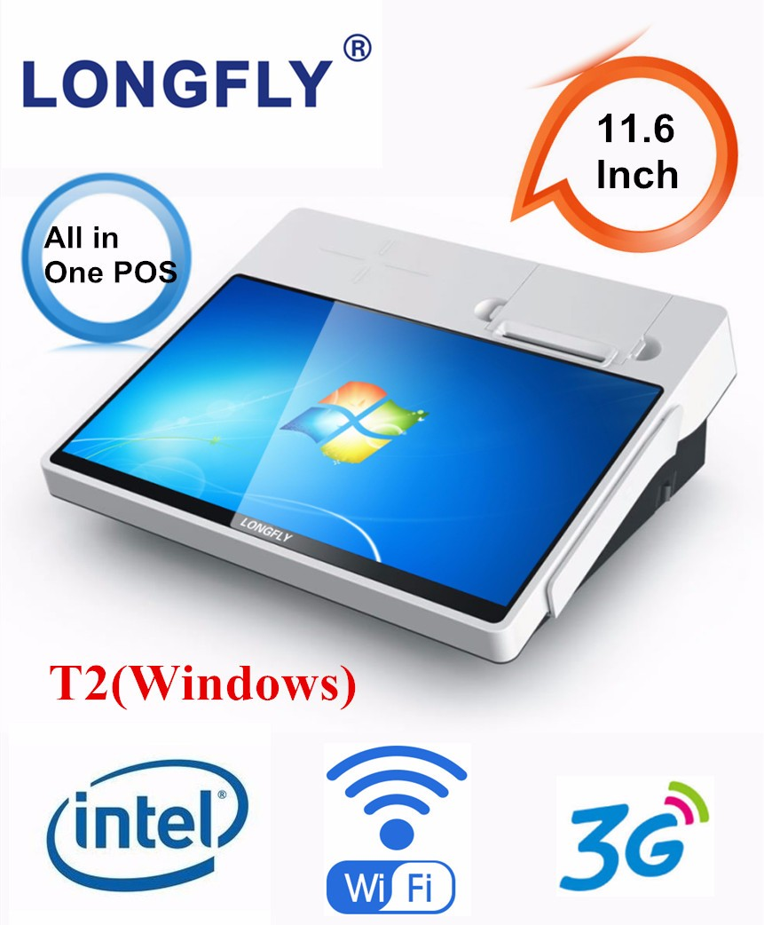 Smart and Secure Windows POS Terminal with Printer, WiFi, 3G for Payment