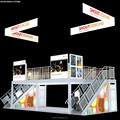 Detian offer exhibition system booth custom trde show booth design
