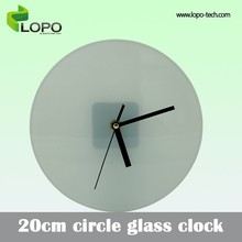 Graceful blank 20cm Circle clock for sublimation photo printing