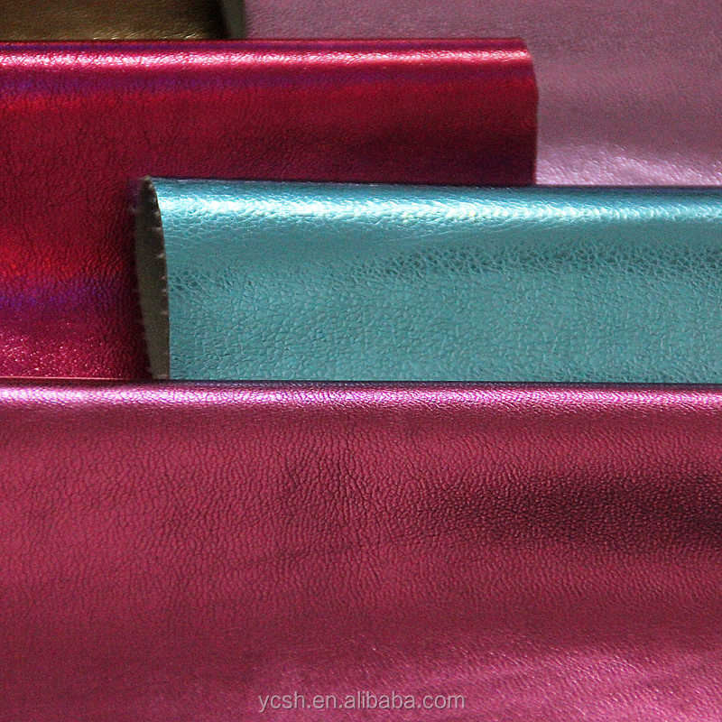 china fashion metallic PU <strong>leather</strong> for making bags material