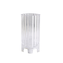 1.5x2.35x4.5 inch <strong>flat</strong> steps plastic polycarbonate pillar candle molds mould for sale