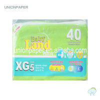 OEM baby diapers with magic tape and elastic waist band