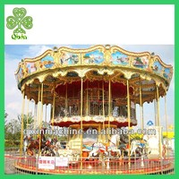 2014 Hot selling interesting double deck carousel for kids