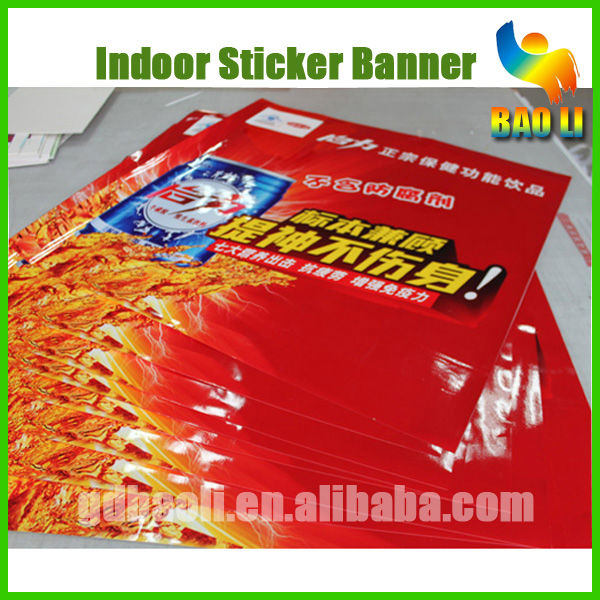 strongly adhesive paper sticker poster for window glass door