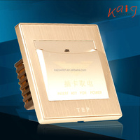champagne gold brushed aluminum hotel energy saving switch