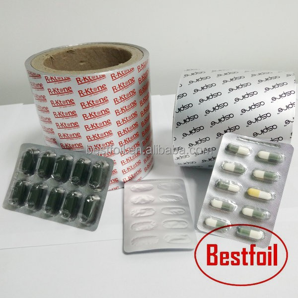 Heat sealing to PP/PS/PVC/PVdC Capsule pill blister packaging