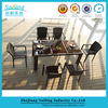 Popular Used Cafe Restaurant Table Rattan Dining Furniture