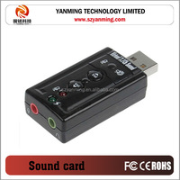 USB 2.0 Sound Card Virtual 7.1 Channel creative audio card