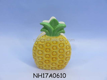 hotsell ceramic pineapple shape napkin holder 2017 new design