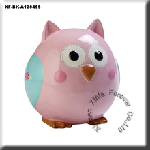 cute unpainted hobby potterys owl money box