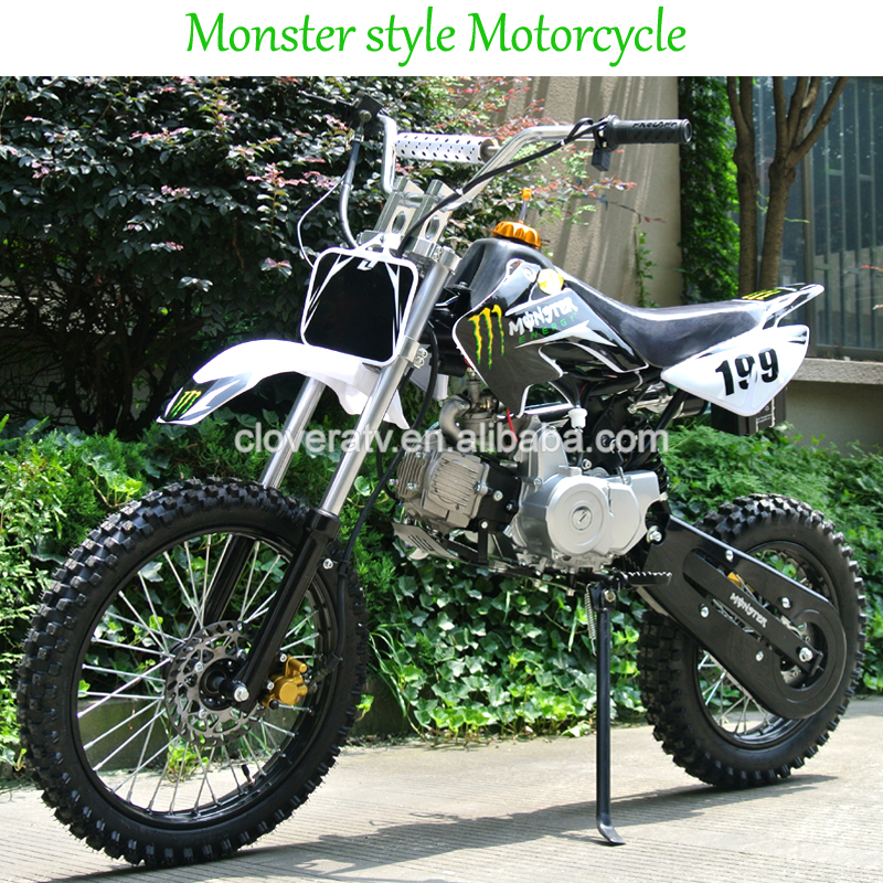CE Standard 125CC Dirt Bike 110CC Powerful Pit Motorcycle with Kick Start