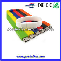 ShenZhen factory slicone wristband USB flash drives, bracelet stick 2gb/4gb/8gb/16gb wristband usb memory