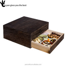 Multilayer carbided vintage elegance small wooden drawer storage box