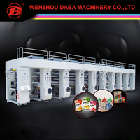 China PE blown film rotogravure printing line machine wholesale supplier