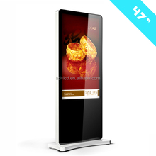1080P 47'' transparent LCD advertising display touch screen for shopping mall