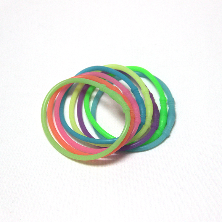 Chinese supplier wholesale Silicone Wristband/ Bracelet Glow in The Dark Luminous Bracelet