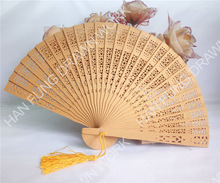 lacquered wooden craft Chinese personalized wedding fan