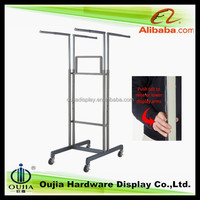 4 way hanging rolling shelf racks, china four wheelers cloth hook