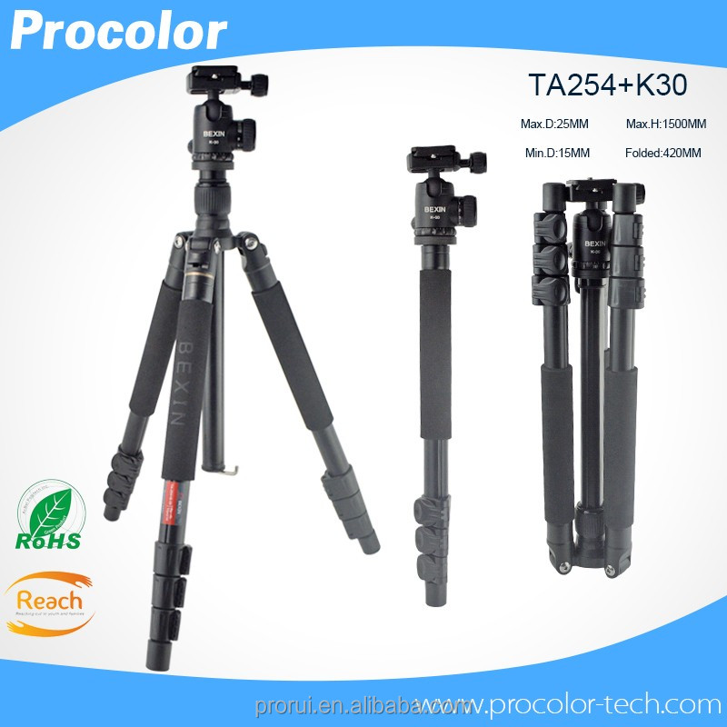 Factory price extendable digital camera walking stick professional monopod tripods