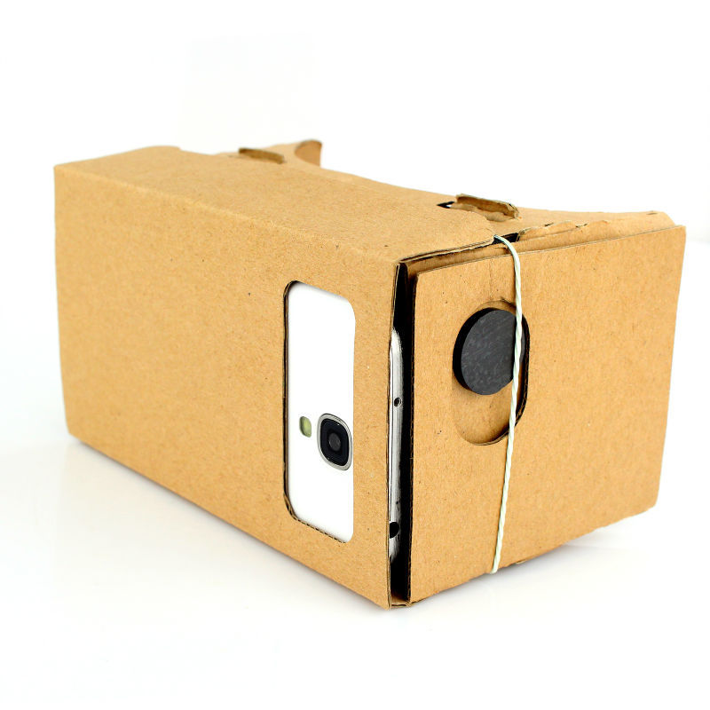 "New Hot Fashion ULTRA CLEAR Diy Google Cardboard Quality 3D VR Virtual Reality Glasses for 5.0"" Screen"