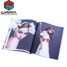 Low cost a4 a5 size wedding dress China supplier full color catalog design
