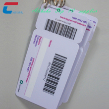Barcode Keychain Card Barcode Key Tag Plastic Card Barcode Membership Cards