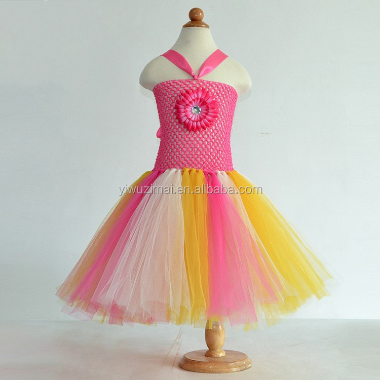 Beautiful Newborn Baby Chiffon Pettiskirt TuTU Dress Lovely Children Birthday Party girls Puffy Dresses Kids Tulle Dance Dress