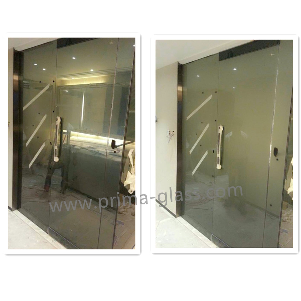 Prima grey electric LCD smart doors glass tempered glass