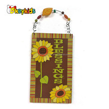 Wholesale useful multi style wooden wall hanging decoration with different slogan W09D034