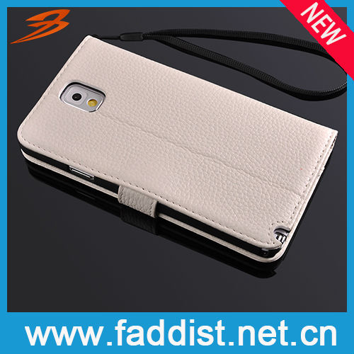 Smart Mobile Phone Case for Galaxy Note 3 N9000 Genuine Leather Case