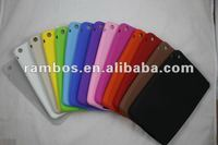 Colorful soft skin silicone smart protective back cover case for iPad mini