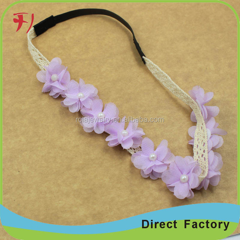 new wholesale bridal crystal rhinestone hair band with flowers bridal wedding accessories ornament
