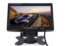 7 Inch Car Rear View Headrest Monitor For DVD Reversing Camera 2 Channel Video Input car monitor