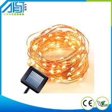 Waterproof solar led copper wire string lights