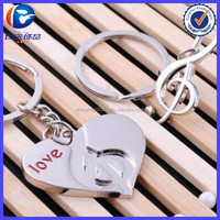 Heart shaped Keychain with rotating imprint area