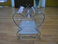 2015 hot selling batterfly stainless steel dish rack with plastic mate