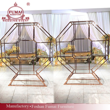 Fashion party wedding bar back design tempered glass wine shelves