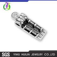 CN186478 Yiwu Huilin jewelry Personality Wood texture Wholesale DIY Jewelry Silver Snowboard jewelry making charms