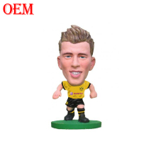 2018 World Cup OEM customized designs PVC Injection 3D realistic Soccer football player action figures